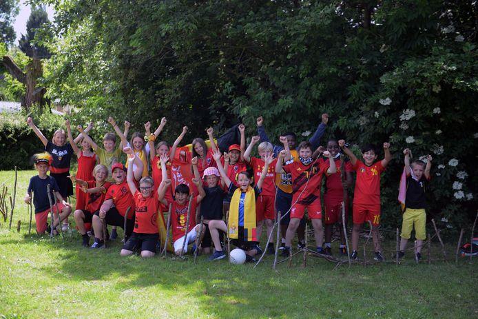 Rode Duivelsgekte bij basisschool Spectrum in Kampenhout