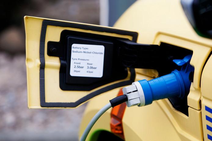 De stroom voor het opladen van een elektrische auto komt veelal uit een vervuilende centrale.
