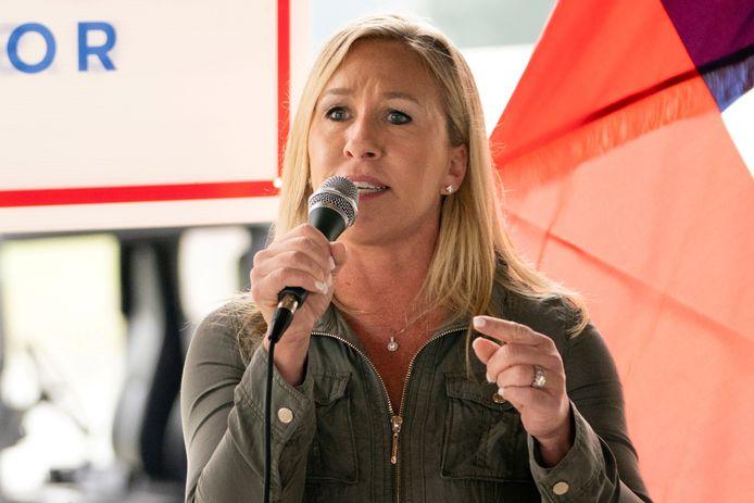 Het pas verkozen Republikeinse Congreslid Marjorie Taylor Greene.