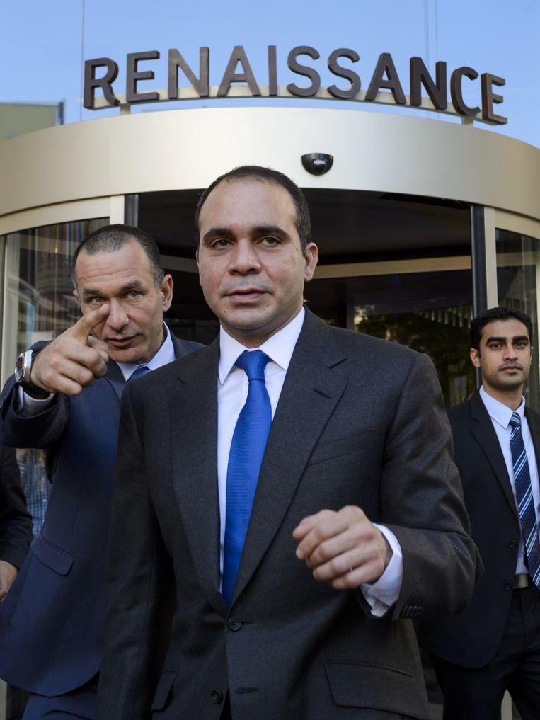 De Jordaanse prins Ali Bin Al-Hussein sprak over 'een zwarte dag voor het voetbal'. Hij is Blatters enige overgebleven tegenkandidaat. Beeld ANP