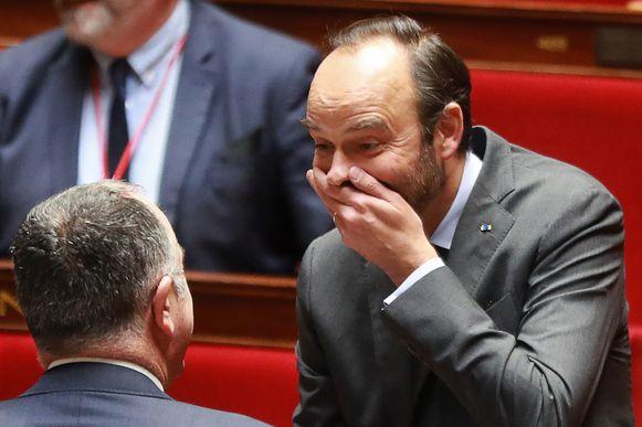 De Franse eerste minister Edouard Philippe gisteren in het parlement.