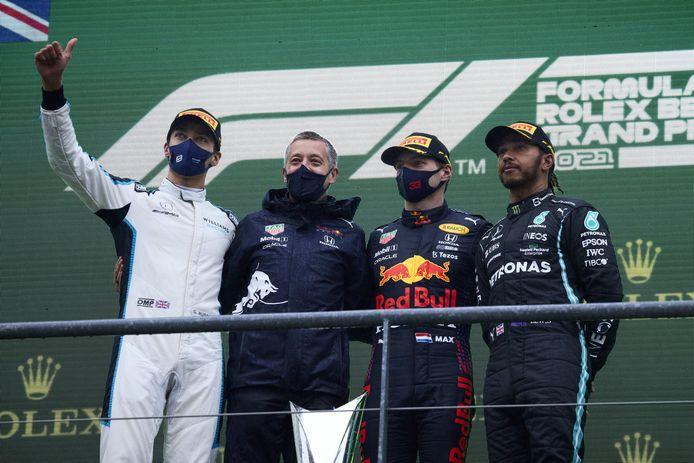 Le podium du GP de Belgique 2021.