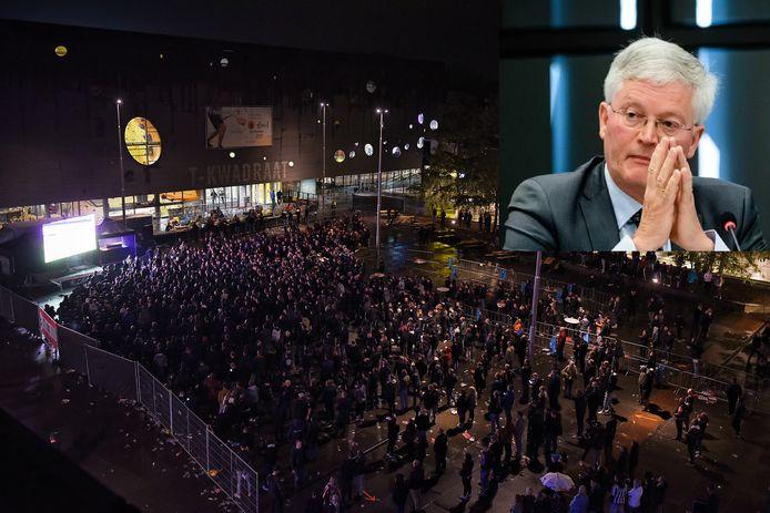 Grote verontwaardiging over Tilburgse burgemeester na fanplein voor supporters Willem II.