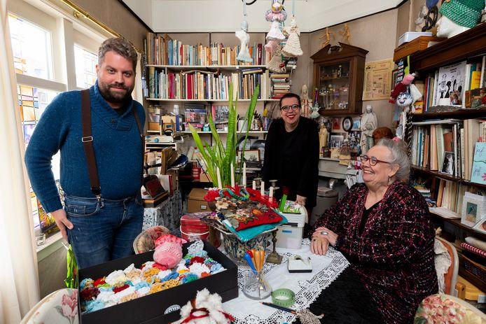 Tim,  Francis en Mariëlle van Broekhuizen.