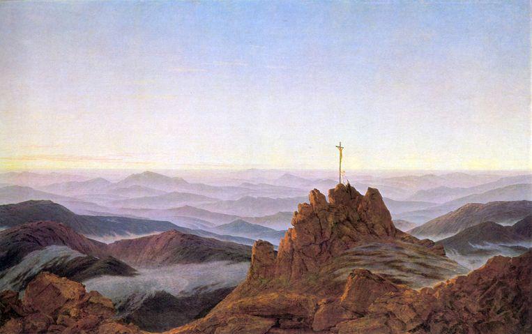 'Morgen im Riesengebirge' (1810-11) Beeld Caspar David Friedrich