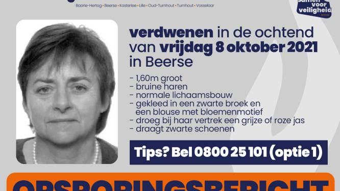 Vrouw (68) uit Beerse vermist sinds vrijdagochtend