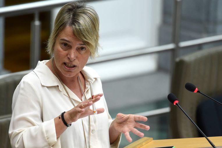 Vlaams minister van Visserij Joke Schauvliege (CD&V).