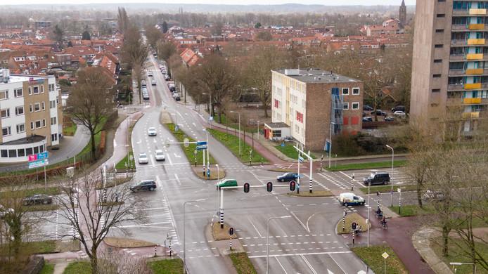 De Hortensiastraat, met links Landstede.