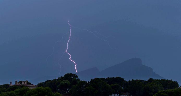 Onweer trof Mallorca eerder vandaag