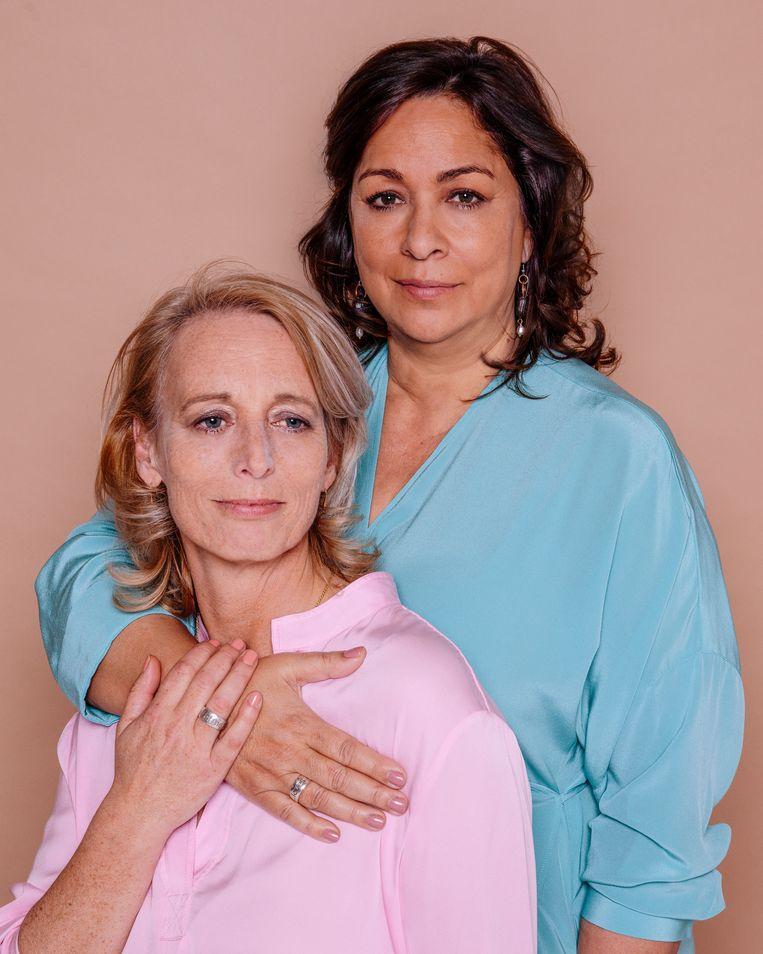 Jaqueline en Patricia. Beeld Ernst Coppejans