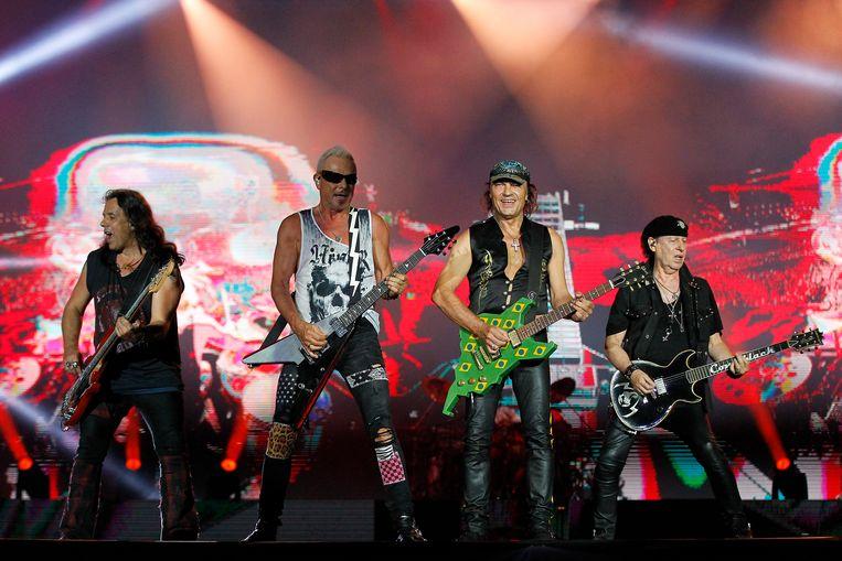 Scorpions in 2019. Hun 'Wind of Change' was een anthem in de strijd tegen de Sovjets. Toeval of niet? Beeld Getty Images