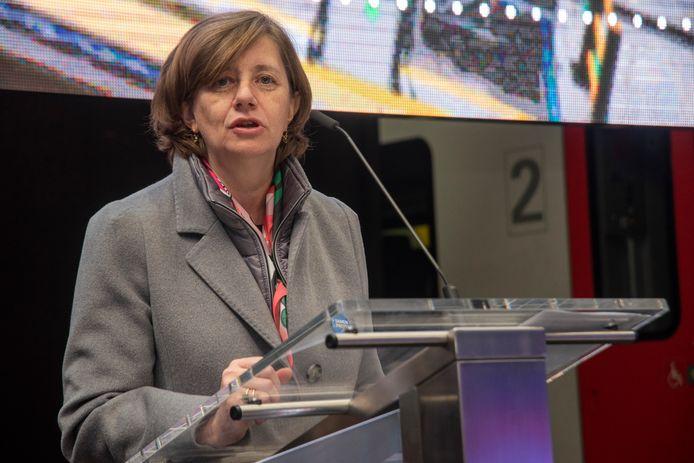 CEO van de NMBS, Sophie Dutordoir.