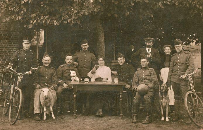 Inkwartiering bij familie Van Kampen in Schijndel tijdens de Eerste Wereldoorlog.