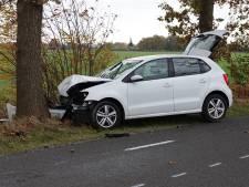 Auto botst op boom bij De Krim