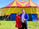 Circusdirecteur Richard Korittnig met circusdirectrice Ewa Dalba