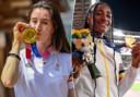 Nina Derwael médaillée d'or aux barres asymétriques et Nafi Thiam, championne olympique de l'heptathlon à Tokyo.