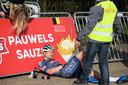 Vorig week zaterdag kon David van der Poel een val van Ryan Kamp niet ontwijken. Hij kon de race niet vervolgen.