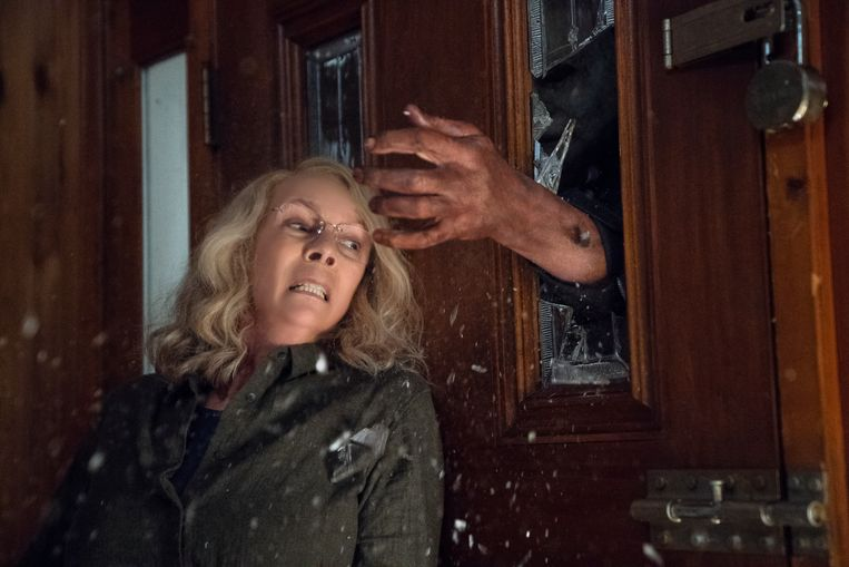 Jamie Lee Curtis kruipt veertig jaar na 'Halloween' opnieuw in de huid van Laurie Strode. Beeld rv Universal Pictures