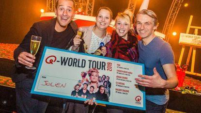 Jolien (23) mag op muzikale wereldreis langs drie continenten