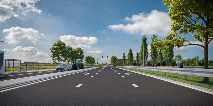 Toekomstbeeld van de Ieperse Steenweg (N8) in Veurne