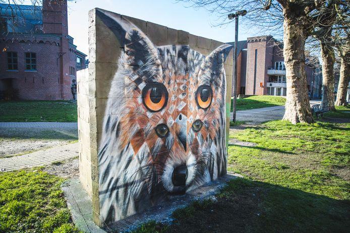grafitti van de kunstenaar Ceepil in het Prinsenhof