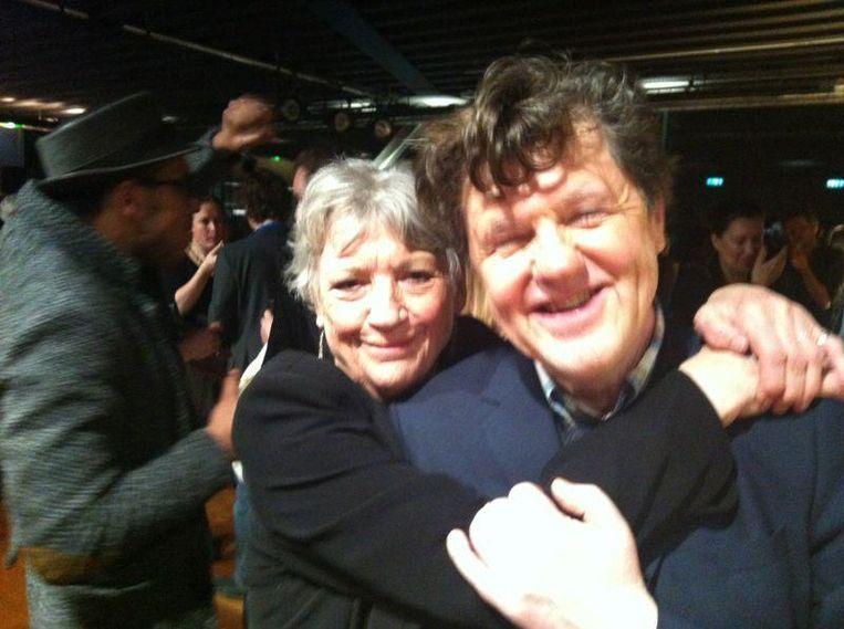 Met Kitty Coiurbois - na afloop van feest 25 Jaar Toneelgroep Amsterdam. Beeld