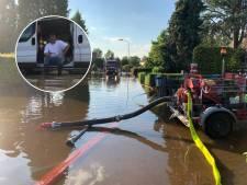 Parcival uit Nijeveen hielp pompen in overstroomd Limburg: 'De tranen sprongen hem in de ogen'