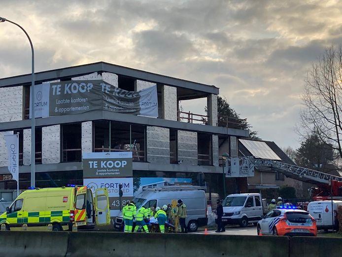 De man werd geëvacueerd van de tweede verdieping