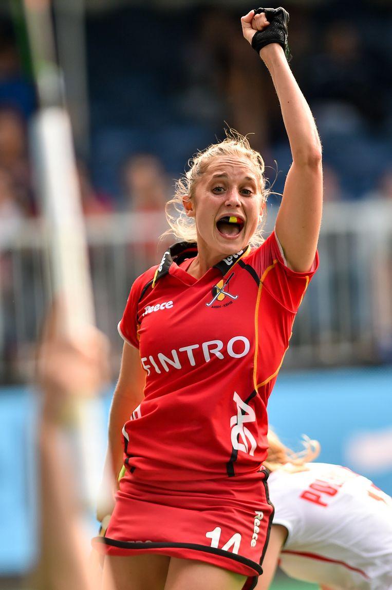 Emilie Sinia opende de score voor de Red Panthers. Beeld BELGA