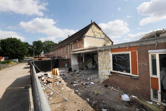 De rampplek in de 32ste straat Hillekensacker, bijna twee weken na de verwoestende ontploffing.