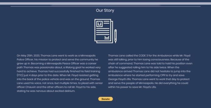 Screenshot Thomas Lane Website