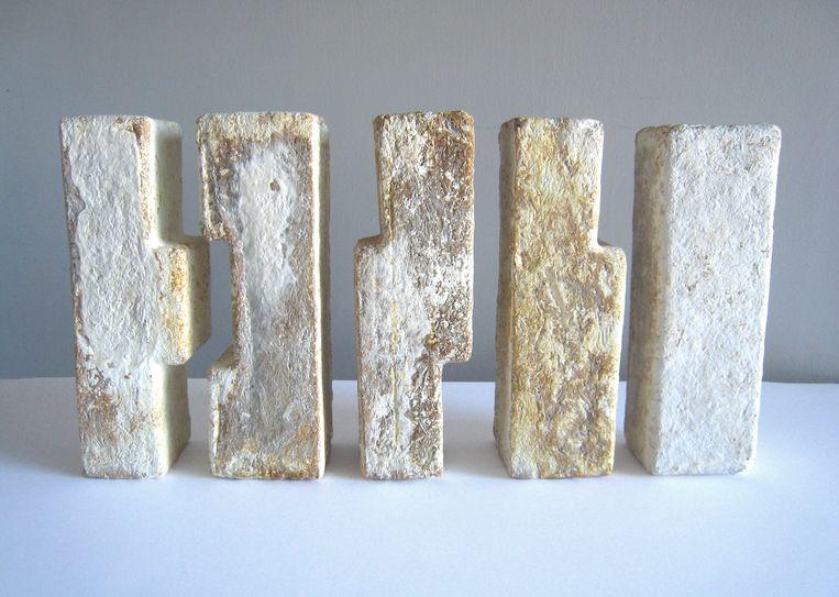De 'bakstenen' van kunstenaar Philip Ross.  Beeld rv