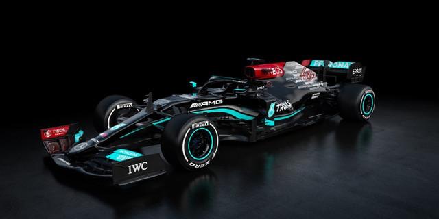 De nieuwe wagen van Lewis Hamilton.