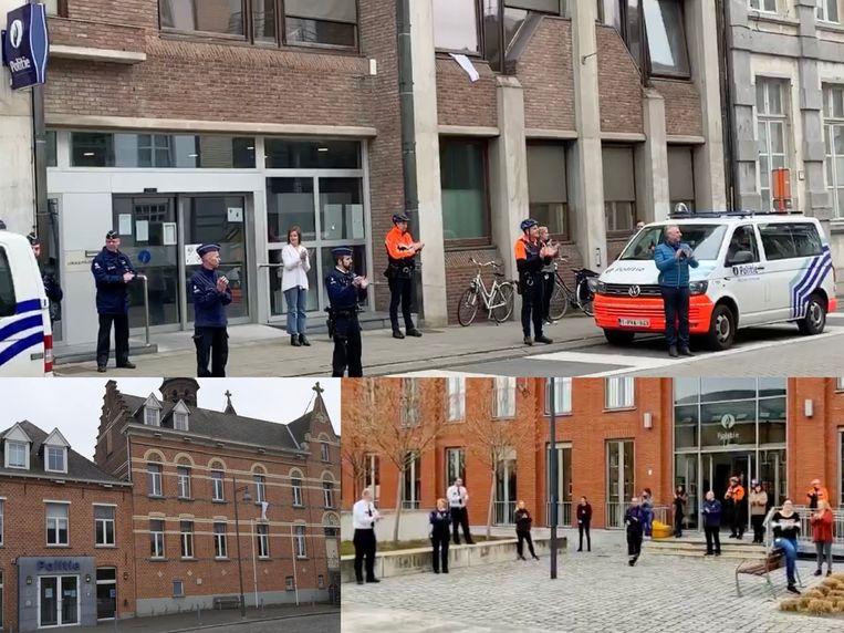 Compilatiefoto van de politiezone's Mechelen-Willebroek, Heist-op-den-Berg en Lier.