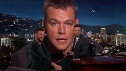 Matt Damon verstoort (opnieuw) de show van Jimmy Kimmel