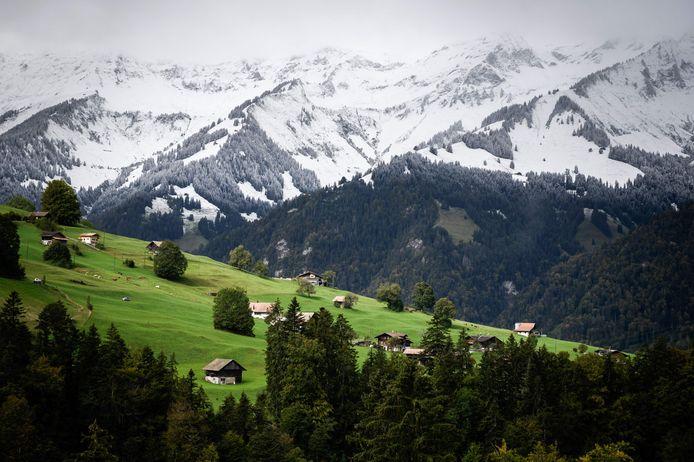 En Suisse également un manteau blanc semble s'être installé sur les hauteurs de Gruyères.
