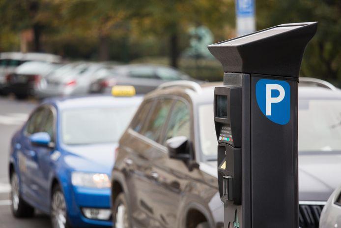 Een parkeerautomaat, foto ter illustatie