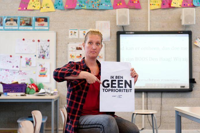 Lerares Nienke van Dijken uit Wijhe heeft in het kader van aankomende lerarenstaking een 'protestrap' geschreven.