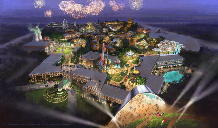 Maquette voor het Fox-pretpark in Dubai. In 2018 moet dat de deuren openen. Beeld rv