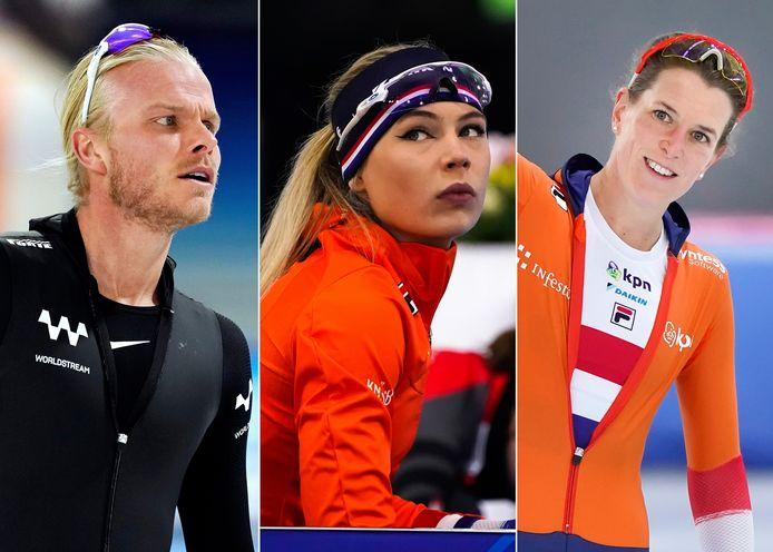 Koen Verweij, Jutta Leerdam en Ireen Wüst.