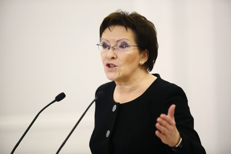 Parlementsvoorzitter Ewa Kopacz. Beeld reuters