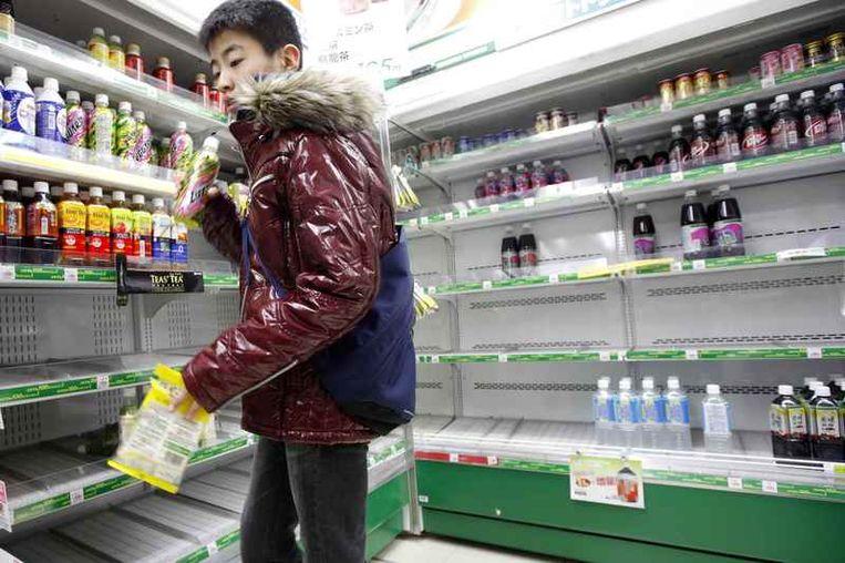 Foto's van een supermarkt in Tokio. Beeld reuters