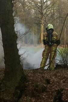 Bermbrand in Holten snel bedwongen