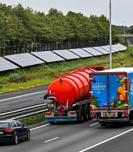 Ruim 400 gezinnen in Etten-Leur halen een deel van hun stroom bij de snelweg