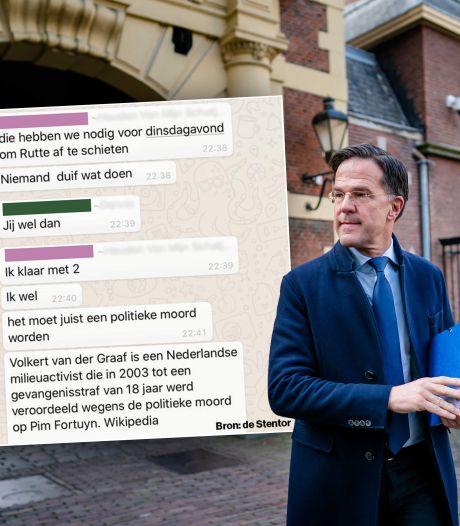 Bedreiger van Rutte riep via WhatsApp al eerder op tot geweld: 'Moet politieke moord worden'