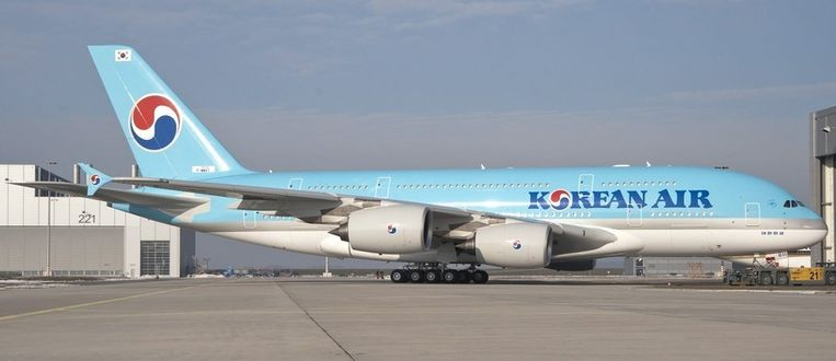 Een Airbus A380 van Korean Air. Beeld ANP