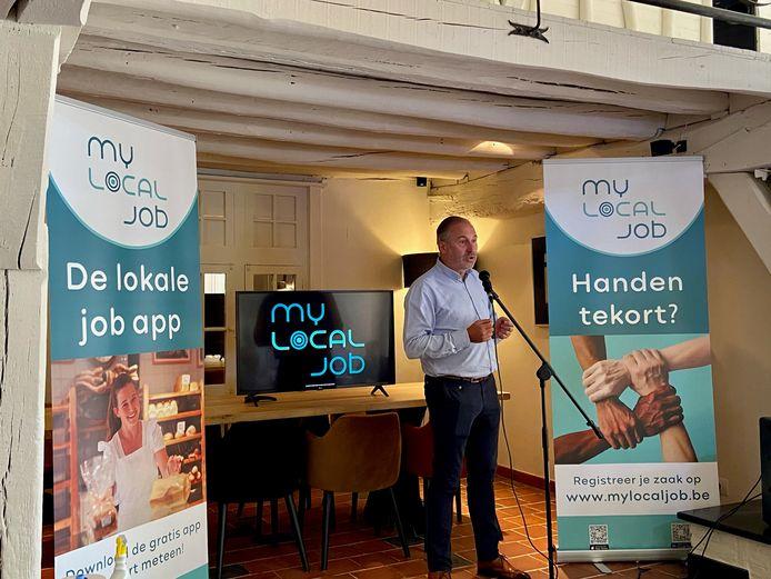 Serge De Groof, horecaondernemer en zaakvoerder van het bedrijf achter 'My Local Job'