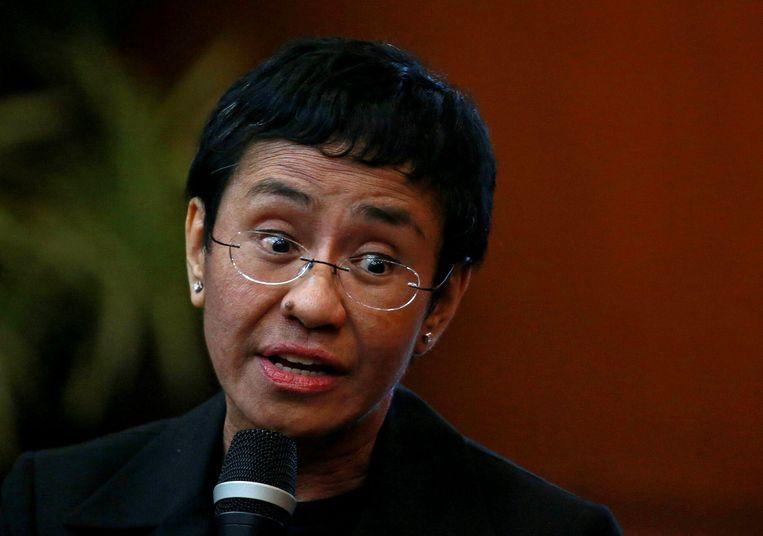 De Filipijnse journaliste Maria Ressa. Beeld REUTERS