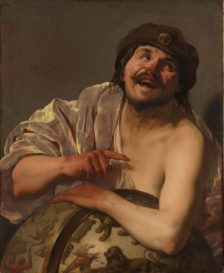 Opnamedatum: 2009-10-01 Op de voorgrond maakt de Griekse filosoof Democritus, naar een doek uit 1628 van Hendrick ter Brugghen (1588-1629), zich vrolijk over het volksvermaak Beeld Frans Pegt
