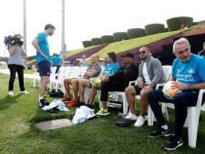 WK-finale-reünie bij training van PSV in Qatar
